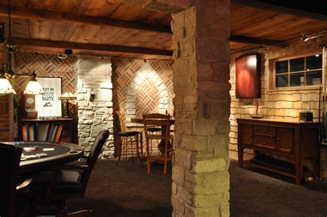 Irish Pub Man Cave   Traditional   Basement   Chicago   by