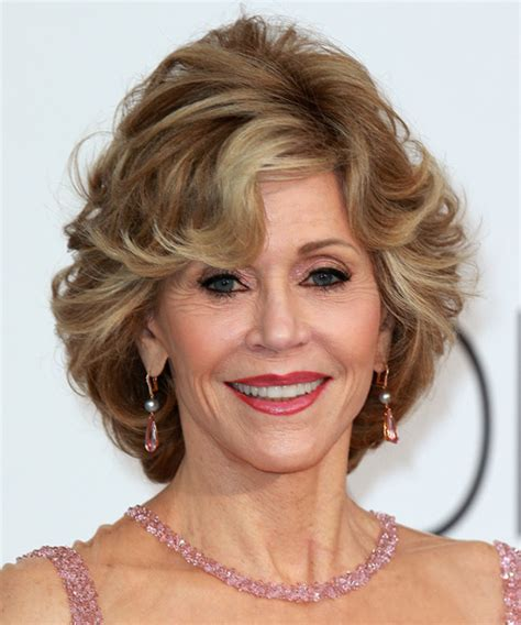 what color hair is jane fondas jane fonda short straight formal hairstyle with side swept