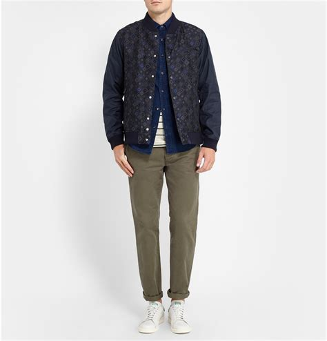 pattern recognition bomber jacket lyst white mountaineering pattern panel bomber jacket in