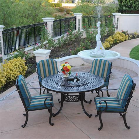 patio table lazy susan patio table with lazy susan and 5