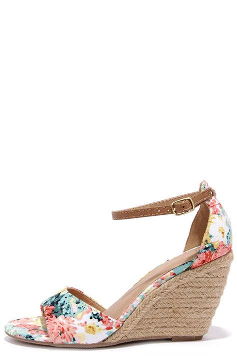floral wedge sandals floral wedges espadrille wedges wedge sandals