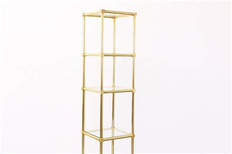etagere retro vintage brass etagere shelf unit vintage supply store