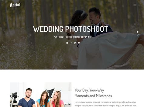 Aerial Wedding Photography Html Template Dev Items Llc Aerial Photography Website Templates