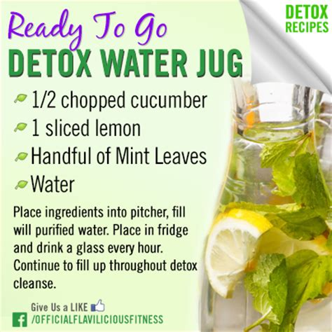 Detox Shoo Ingredients by Ready To Go Detox Water Jug Exercises For