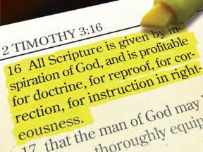What Does 3 16 Is All Scripture God Breathed Till He Comes