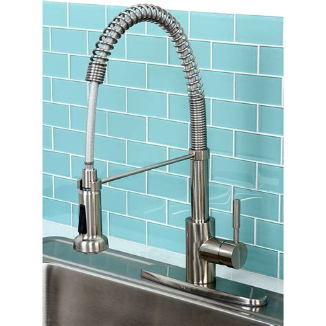 spiral kitchen faucet concord modern satin nickel spiral pulldown kitchen faucet