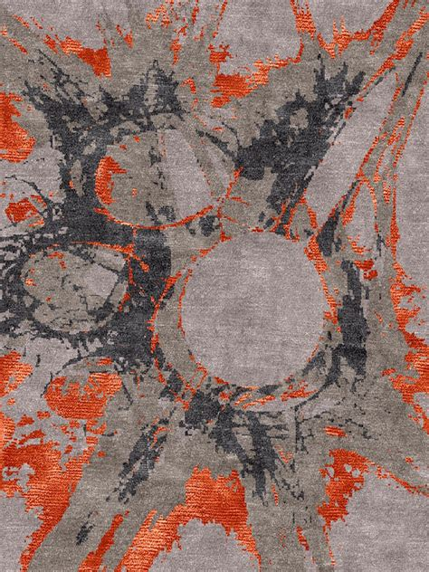 Handcrafted Designer And Custom Rugs From London Uk Modern Orange Rug