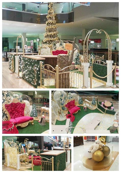 christmas decoration visual wesfield shopping centre decoration santa set festive decorations