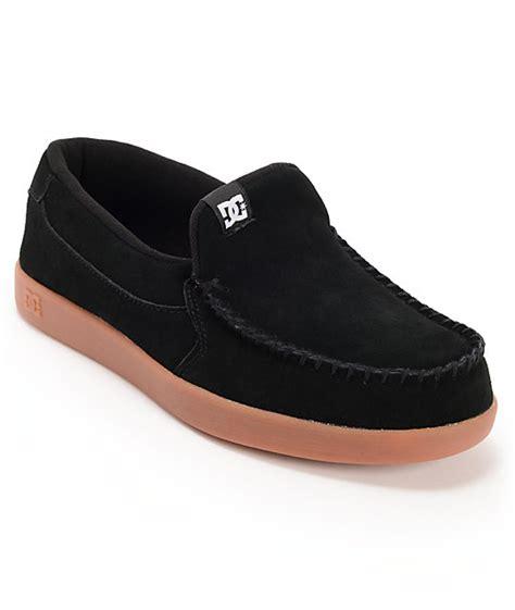 dc villain slippers dc villain black suede gum slippers