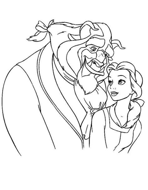 belle   beast  meant  coloring page