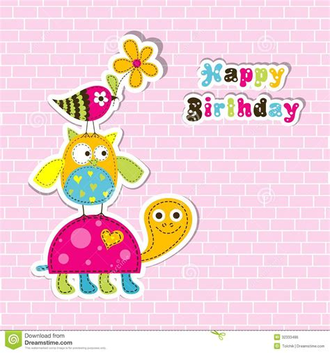 birthday card template free vector template greeting card vector royalty free stock image