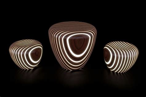 Futuristic Wooden furniture with integrated LED lighting Interior Design Ideas Ofdesign