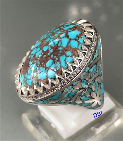 Gelang Batu Pirus Asli cincin pirus asli iran kombinasi kubi terjual