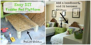 Diy Toddler Bed Easy Easy Diy Toddler Bed Platform Erin Spain