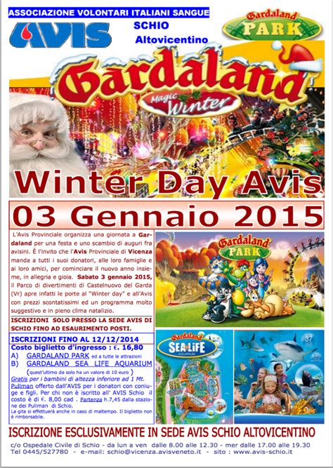 Calendario Gardaland Winter Day Avis A Gardaland 2015