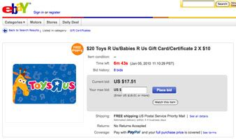 How To Buy An Ebay Gift Card - 13 tips to safely buy gift cards on ebay