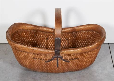Handmade Baskets For Sale - handmade antique willow flower basket for sale at 1stdibs