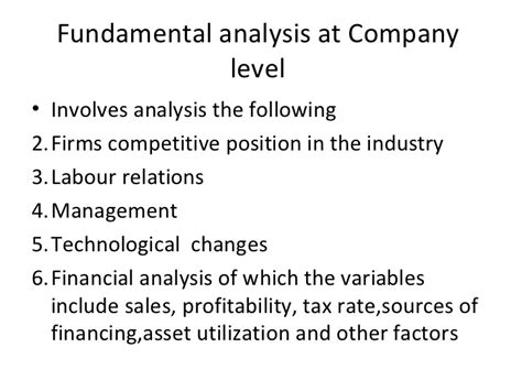 Financial Analysis Mba Management by Company Analysis Lecture For Mba Fin Thursday
