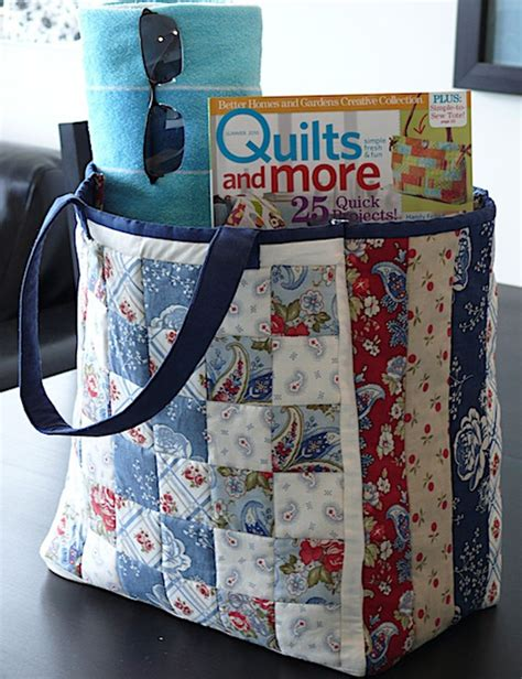moda bake shop clermont farms quilted tote bag quilting