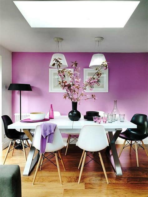 dining room ideen wandgestaltung ideen lila wandfarbe wei 223 er esstisch