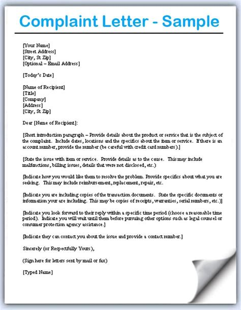 Complaint Letter For Coworker Sle how write a letter of complaint functional sles writing