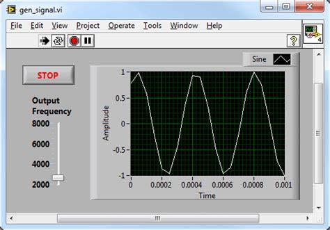digital pattern generator labview generating a signal national instruments