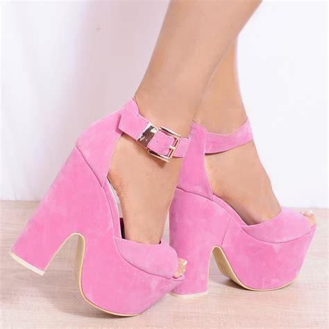 High Heels Pink pink gold metal ankle cuff high heel stilettos