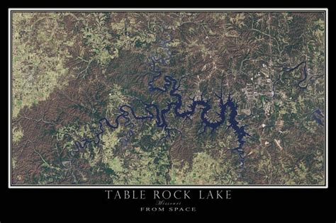 table rock lake arkansas missouri from space satellite