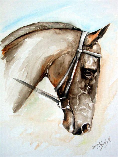 Horse Head Painting By Leyla Munteanu