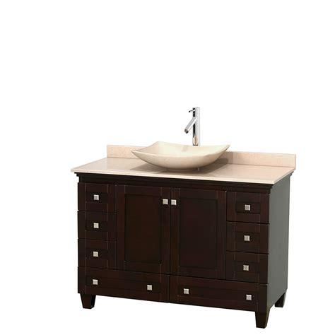 wyndham bathroom vanities wyndham collection wcv800048sesivgs5mxx acclaim 48 inch single bathroom vanity in espresso