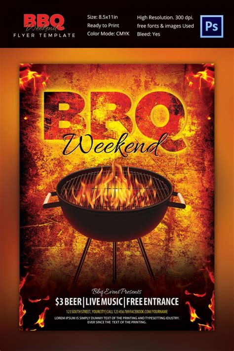 28 Bbq Flyer Templates Free Word Pdf Psd Eps Bbq Flyer Template Free