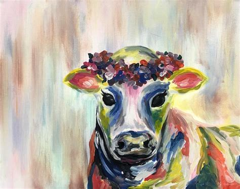 paint with a twist powell colorful flower cow new thursday january 19 2017
