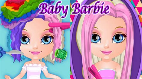 baby barbie school haircuts game youtube baby barbie crazy haircuts cute game for girls youtube