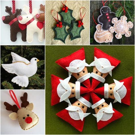 wonderful diy felt ornaments  christmas