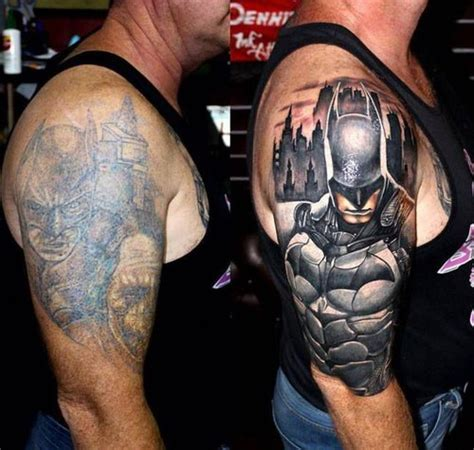 batman logo tattoo cover up 18 creative ways people have covered up bad tattoos smosh