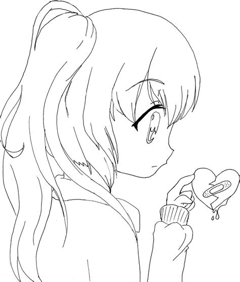 manga girl coloring page cute anime girl coloring pages gianfreda net