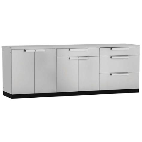 Kitchen Cabinet Covers by Newage Products Stainless Steel Classic 4 97x36x24