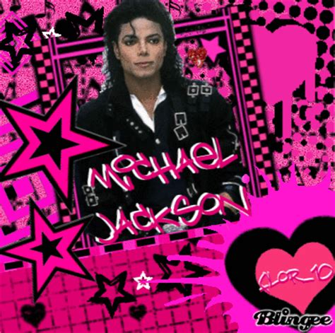 Mj Pink michael jackson in pink original blingee flor 10 picture