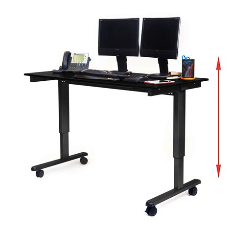 luxor stande 60 bk bo 60 electric standing desk black