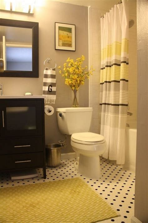 gray bathroom decorating ideas 22 bathrooms with yellow accents messagenote