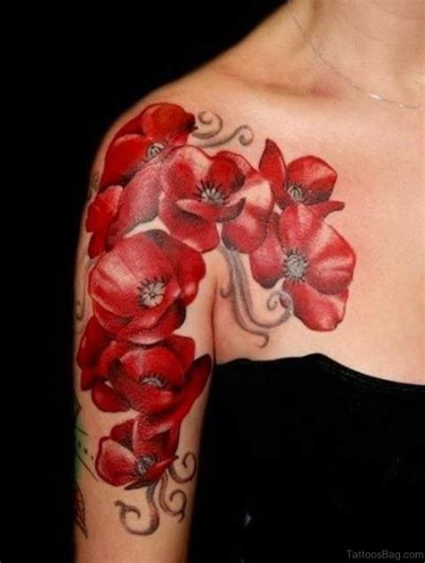 reds tattoo 43 hibiscus shoulder designs