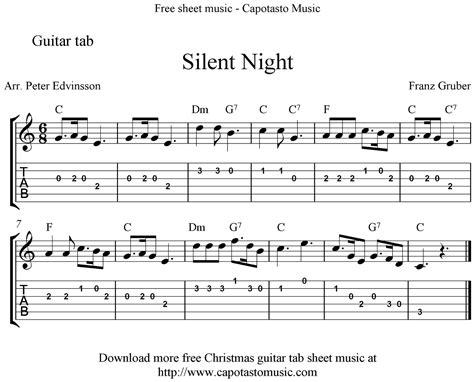 printable sheet music silent night silent night easy free christmas guitar tab sheet music