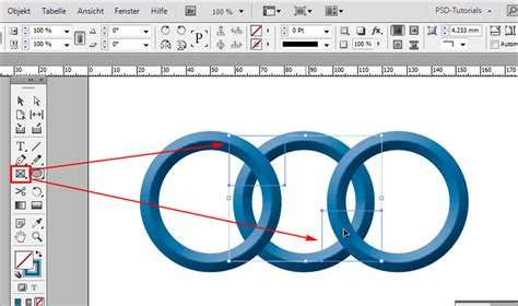 indesign software tutorial indesign verschlungene ringe zwei ringe ineinander