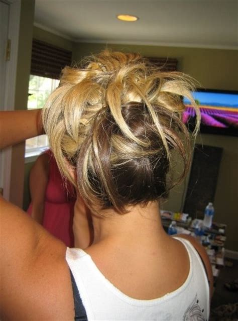 wrinkles caused by braids funky fun updo for bridesmaid by cindy updo s by our