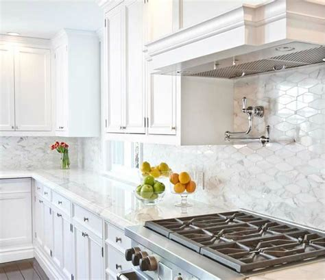 Backsplash With Marble Countertops Pin On For The Home Kitchens