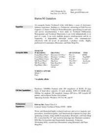 Resume Computer Skills Microsoft Word 286 Best Images About Resume On Entry Level 2017 Yearly Calendar And Exle Of Resume