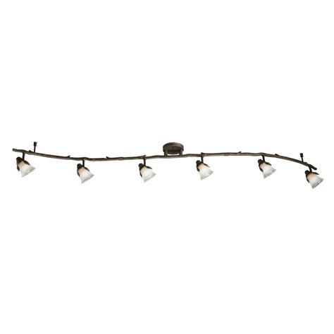 Track Lighting Lowes by Shop Portfolio Branches 6 Light Painted Olde Bronze Fixed