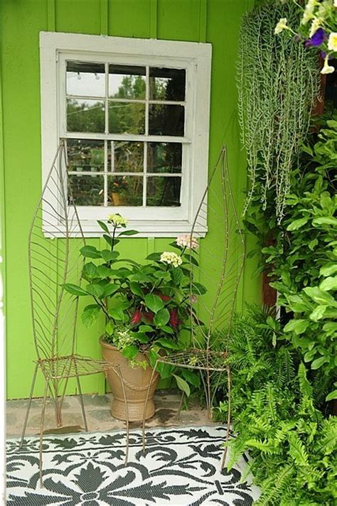 Garden Wall Paint Color Color Roundup Chartreuse Lime And Apple Green In