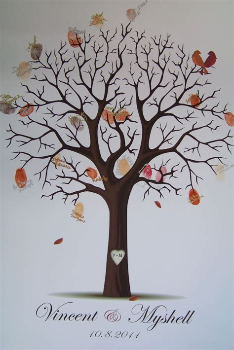 guestbook tree template floralisa weddings and events diy fingerprint tree