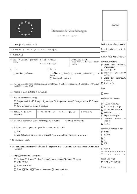 Lettre De Demande De Visa Touristique Pour La Formulaire Visa Schengen Espagne Pdf Files From The World